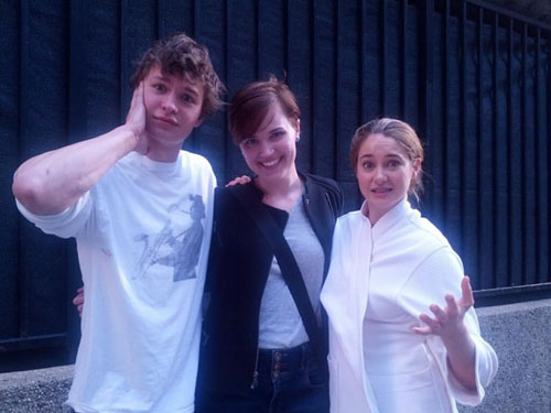 Ansel, Veronica e Shailene 1