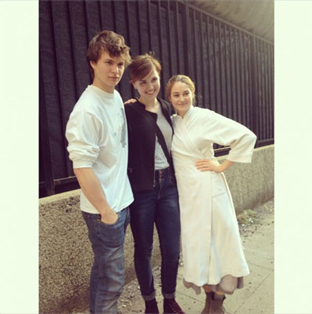 Ansel, Veronica e Shailene 2