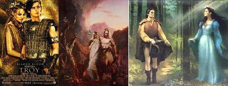 Helena e Paris, Siegfried e Brunhild, Beren e Lúthien