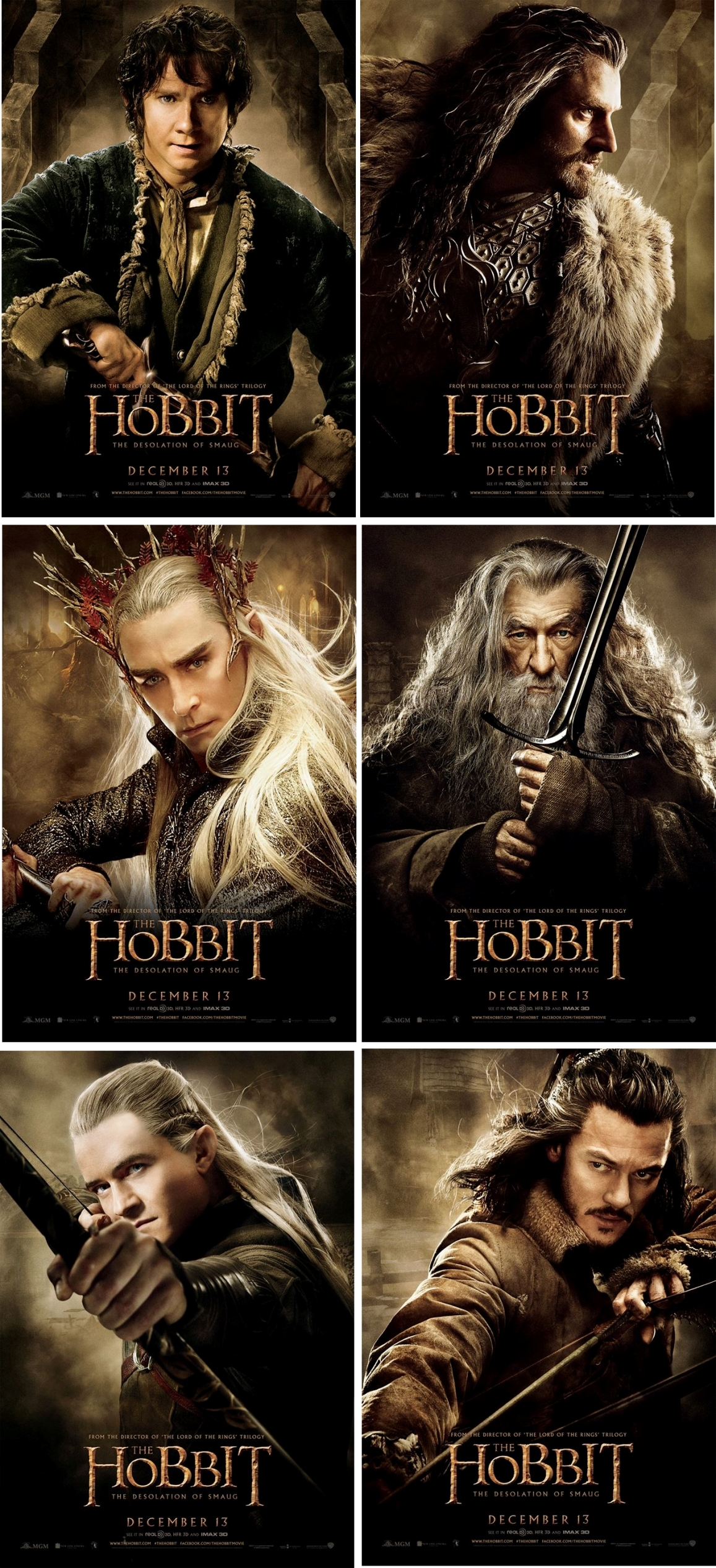 O-Hobbit-A-Desolação-de-Smaug-6-novos-pôsteres